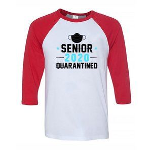 Men's QUARANTINED 2020 3/4 Sleeve Baseball Tee